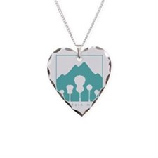 Mountain Music Necklace Heart Charm