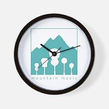 Mountain Music Wall Clock