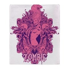Zombie Girl2 Throw Blanket
