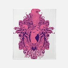 Zombie Girl2 Throw Blanket