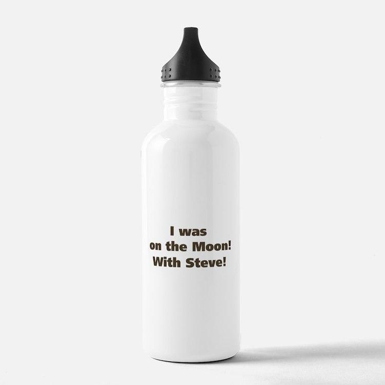 Moon with Steve Water Bottle