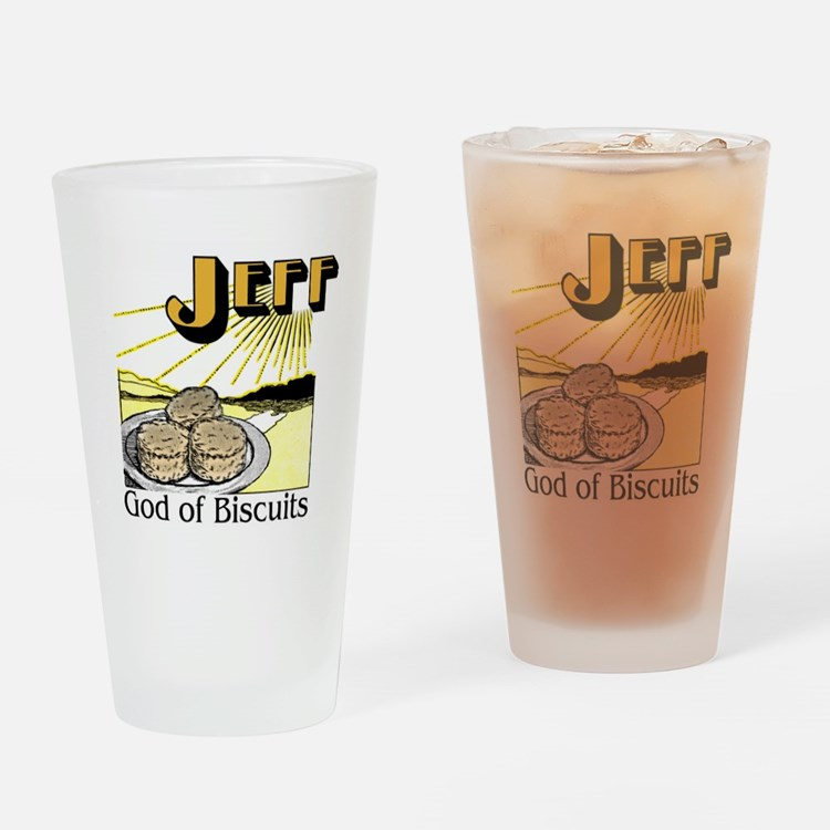 Jeff, God of Biscuits Drinking Glass