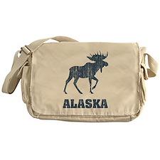 Retro Alaska Moose Messenger Bag