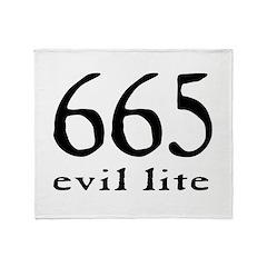 665 Evil Lite Throw Blanket
