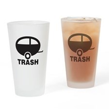 Trailor Trash Drinking Glass