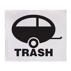 Trailor Trash Throw Blanket