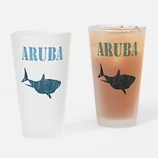 Retro Aruba Shark Drinking Glass