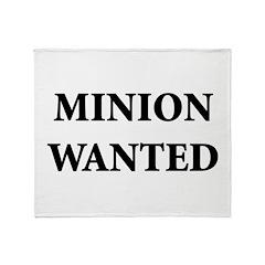 Minion Wanted Throw Blanket
