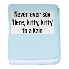 Never Say Here Kitty Kitty baby blanket