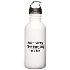 Never Say Here Kitty Kitty Water Bottle