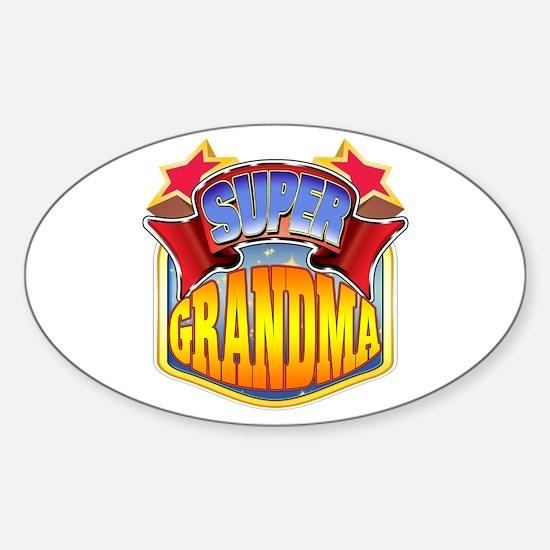 Super Grandma Sticker (Oval)