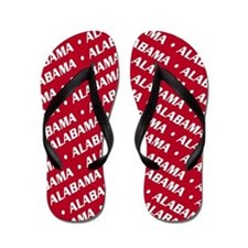 Crimson & White Alabama Flip Flops