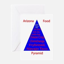 Arizona Food Pyramid Greeting Card