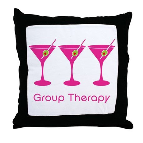 Group Therapy Throw Pillow