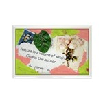Nature Quote Collage Rectangle Magnet