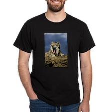 GRAY WOLF YAWNING T-Shirt