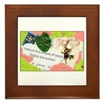 Nature Quote Collage Framed Tile