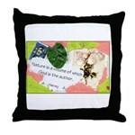 Nature Quote Collage Throw Pillow