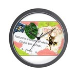 Nature Quote Collage Wall Clock