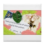 Nature Quote Collage Tile Coaster