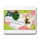 Nature Quote Collage Mousepad
