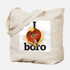 I heart / love boro Tote Bag