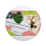 Nature Quote Collage Ornament (Round)