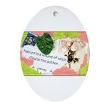 Nature Quote Collage Ornament (Oval)