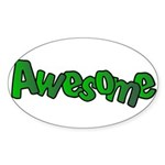 Awesome Graffiti Art Design Sticker (Oval 50 pk)