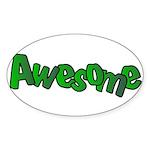 Awesome Graffiti Art Design Sticker (Oval)