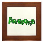 Awesome Graffiti Art Design Framed Tile