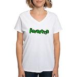 Awesome Graffiti Art Design Women's V-Neck T-Shirt