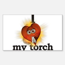 I heart / love my torch Rectangle Decal