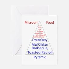 Missouri Food Pyramid Greeting Card