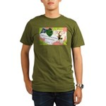 Nature Quote Collage Organic Men's T-Shirt (dark)