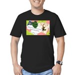 Nature Quote Collage Men's Fitted T-Shirt (dark)