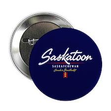 """Saskatoon Script 2.25"""" Button"""