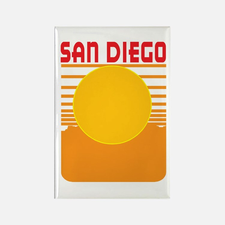 San Diego Rectangle Magnet