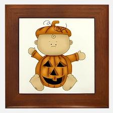 Cute Pumpkin-Baby Framed Tile