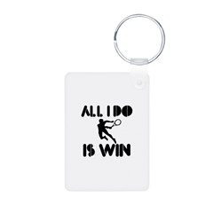 All I do is Win Lawntennis Aluminum Photo Keychain