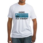Gone Fly Fishin' Fitted T-Shirt