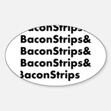 Bacon Strips Sticker (Oval)