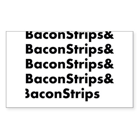 Bacon Strips Sticker (Rectangle)