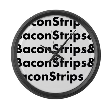 Bacon Strips Large Wall Clock