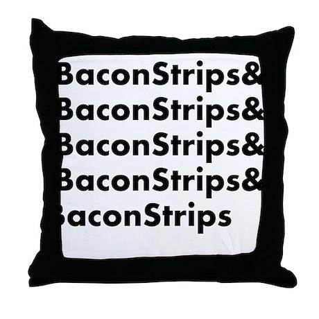 Bacon Strips Throw Pillow