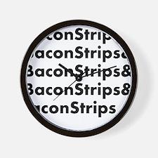 Bacon Strips Wall Clock