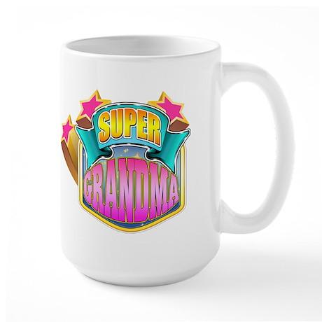 Pink Super Grandma Large Mug