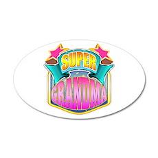 Pink Super Grandma 22x14 Oval Wall Peel