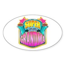 Pink Super Grandma Decal