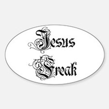 Jesus Freak car decal (Oval)